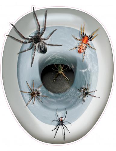 Adesivo realistico per tavoletta del water con ragni