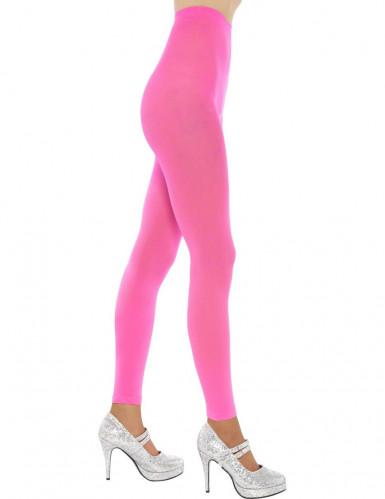 Leggings per adulto rosa fluo