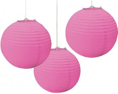 Lanterne di carta di colore rosa