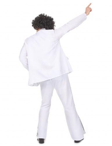 Costume disco bianco e argento per uomo-2