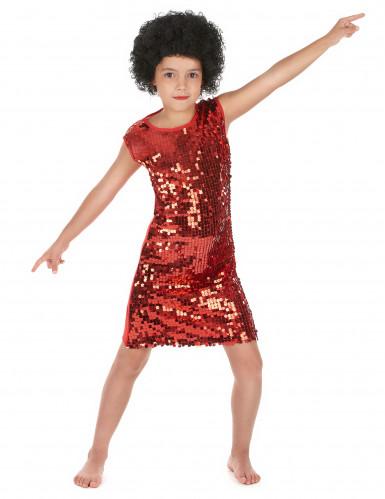 Abito rosso con paillettes per bambina Carnevale