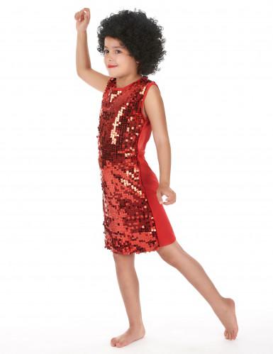 Abito rosso con paillettes per bambina Carnevale-1