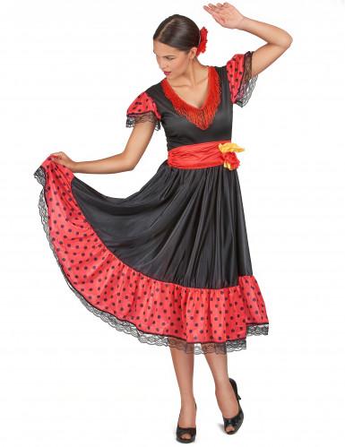 Costume per donna danzatrice Flamenco