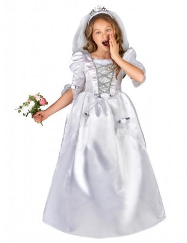 Costume per ragazza da sposa con velo