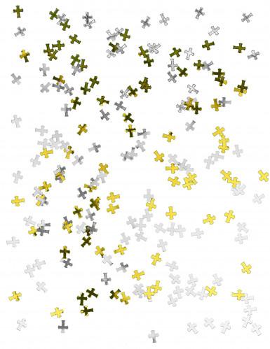 Coriandoli argentati e dorati a croce-1