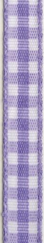 Nastro di cotone a quadri viola e bianco