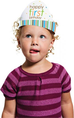 8 cappellini di carta Animali Primo compleanno Bambino