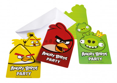 6 Inviti per party Angry Birds™