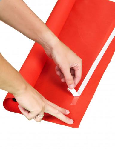 Tappeto rosso finto decorativo-1