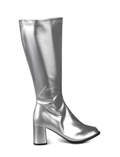 Stivali argento da donna