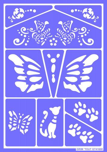 Mascherine trucco riutilizzabili Farfalle e Gatti Grim'Tout