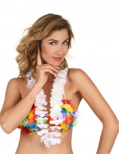 Collana Hawaiana Bianca-1