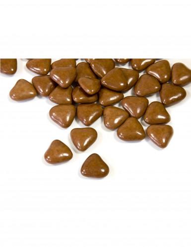 Piccoli confetti di cioccolato a forma di cuore colore marrone