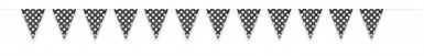 Ghirlanda con bandierine nere con pois bianchi-1