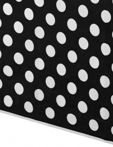Tovaglia di plastica nera a pois da 137 x 274 cm-1