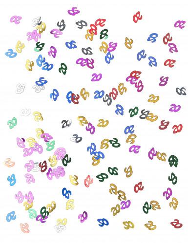 Coriandoli da tavola multicolori con numero 20-1