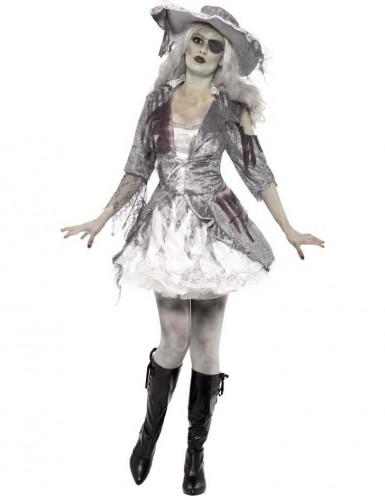 Costume bianco da pirata fantasma da donna