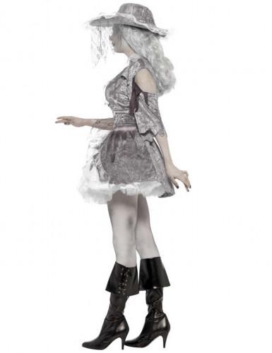 Costume bianco da pirata fantasma da donna-1