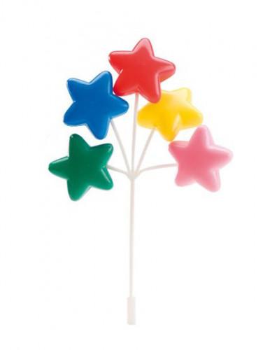 Decorazione torta stelle colorate