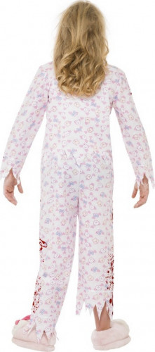 Costume da zombie pigiama bambina Halloween-2
