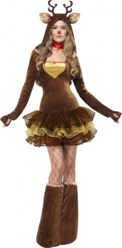 Costume marrone renna sexy donna