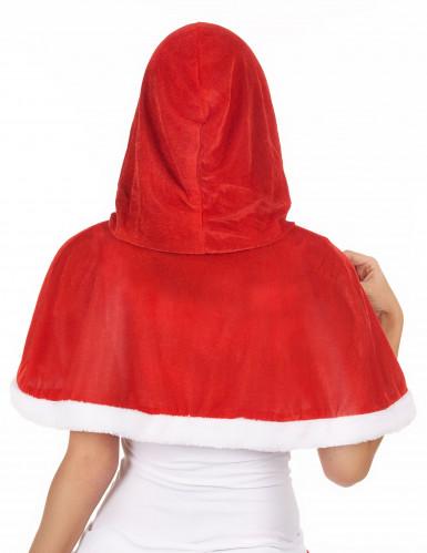 Mantello rosso per costume da Mamma Natale-1