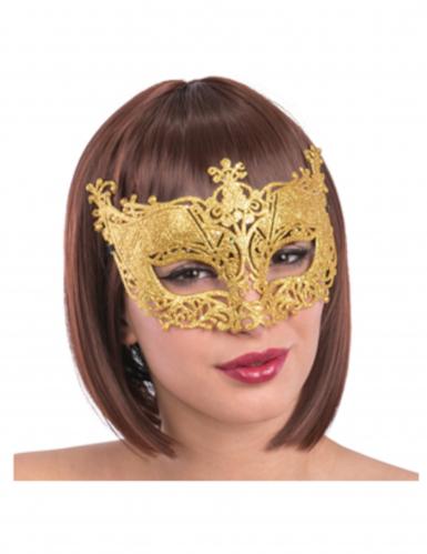 Maschera veneziana colore oro per adulti