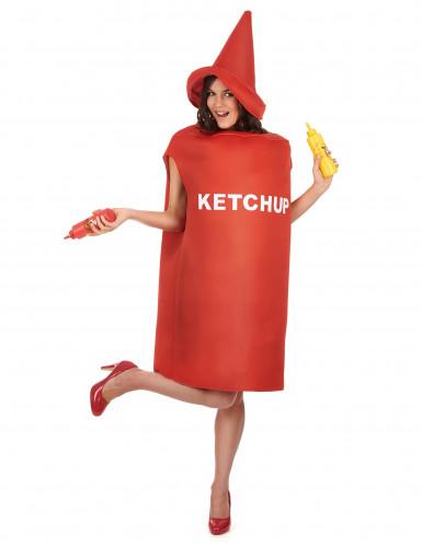 Costume per adulti barattolo di ketchup-1