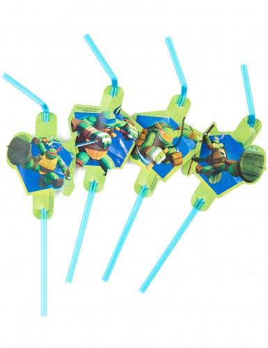 8 Cannucce verdi originali Tartarughe Ninja™