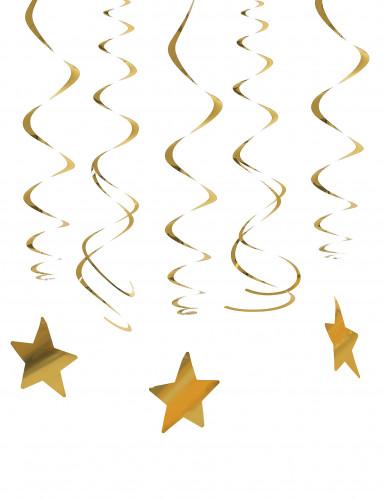 30 decorazioni con stelle dorate