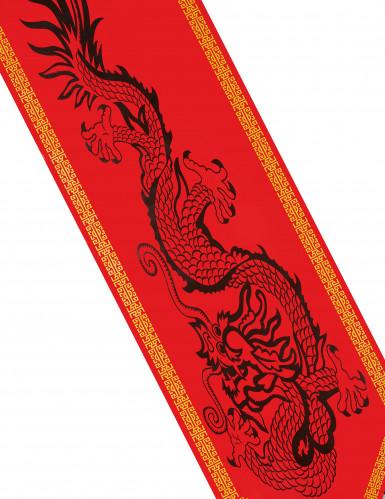 Runner da tavola decorato con dragone cinese-1