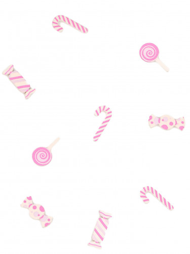 Caramelle rosa di legno per decorazioni
