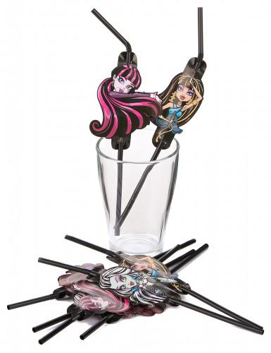 Confezione 8 cannucce ufficiali Monster High™-1