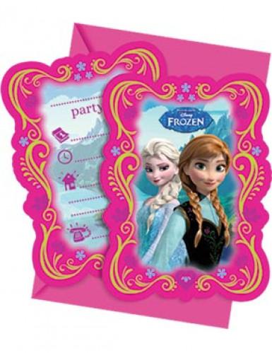 Confezione da 6 biglietti d'invito La regina delle nevi™
