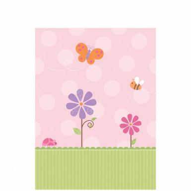 Tovaglia di carta a tema fiori rosa