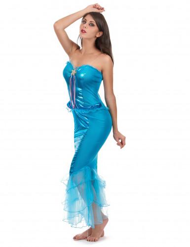Completo azzurro sirena donna-1