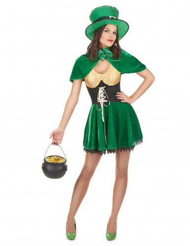 Costume da folletto di San Patrizio per donna