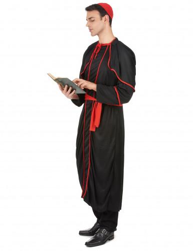Costume nero da vescovo per adulto-1