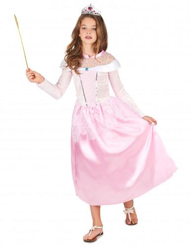 Costume carnevale rosa da bambina Principessa