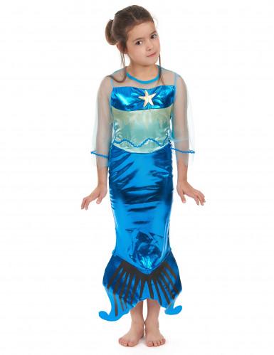 Costume da sirena per bambina colore turchese
