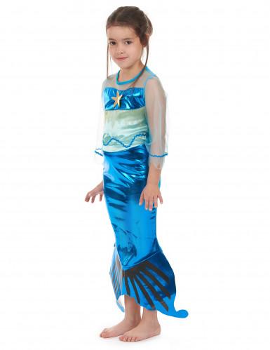 Costume da sirena per bambina colore turchese-1