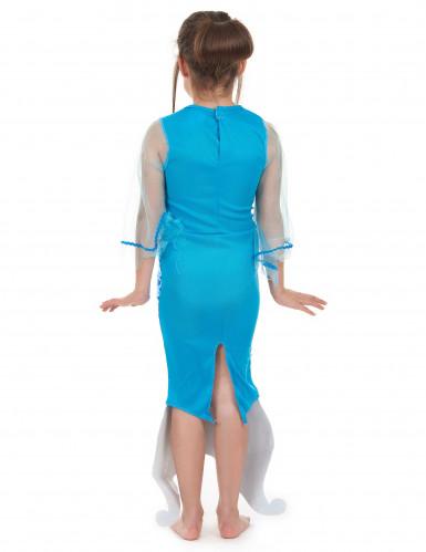 Costume da sirena per bambina colore turchese-2