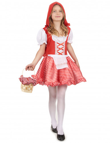 Costume con cappuccio rosso da  bambina