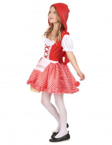Costume con cappuccio rosso da  bambina-1