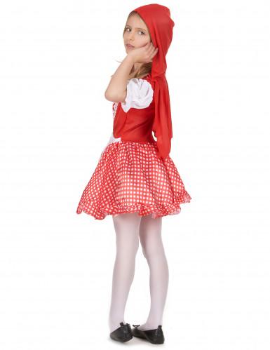 Costume con cappuccio rosso da  bambina-2