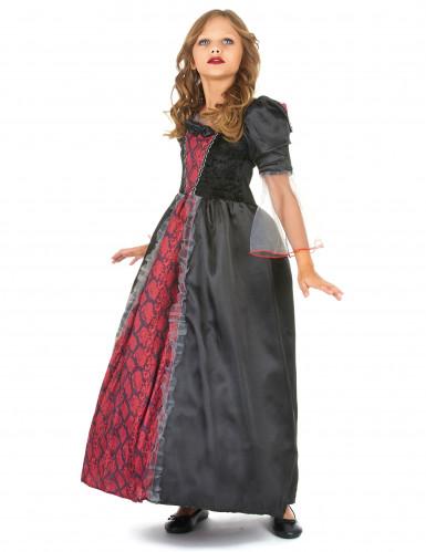 Costume vampiro bambina nero e rosso-1