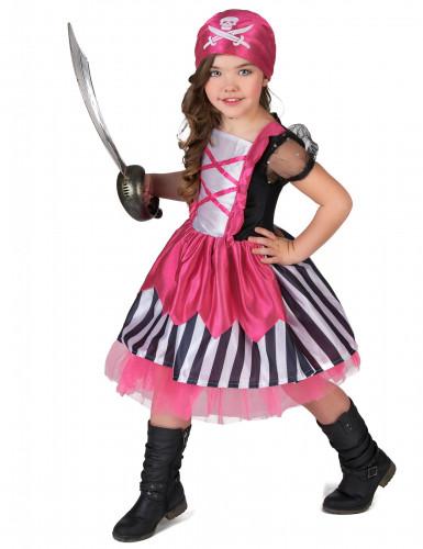 Costume da piratessa per bambina in rosa