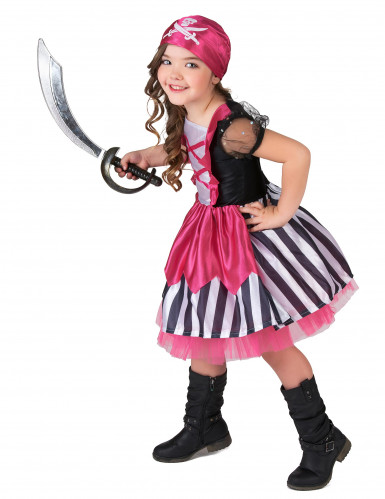 Costume da piratessa per bambina in rosa-1