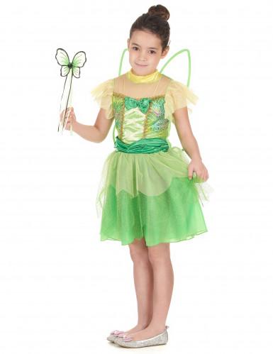 Costume da fatina colore verde da bambina-1