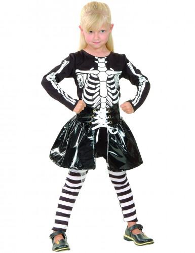 Costume per bambina da scheletro